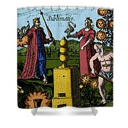 Alchemy Illustration Shower Curtain