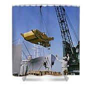 Alcoa Ship Destines For South America Shower Curtain