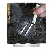 Alcohol And Cocaine Shower Curtain