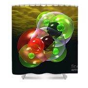 Alcohol Molecule 4 Shower Curtain