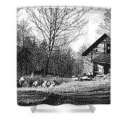 Aldergrove Farmhouse Shower Curtain