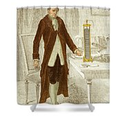 Alessandro Volta, Italian Physicist Shower Curtain by Science Source