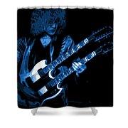 Doubleneck Spokane 1978 Blue Shower Curtain