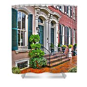 Alexandria Row Houses Shower Curtain