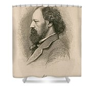Alfred, Lord Tennyson, English Poet Shower Curtain