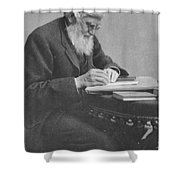 Alfred Russel Wallace Shower Curtain by Science Source