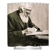 Alfred Russel Wallace, Welsh Naturalist Shower Curtain