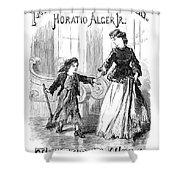 Alger: Tattered Tom Shower Curtain by Granger
