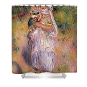 Algerian Woman And Child Shower Curtain