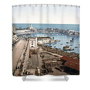 Algiers - Algeria - Harbor And Admiralty Shower Curtain
