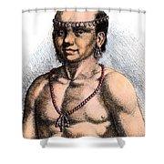 Algonquian Man, 1645 Shower Curtain