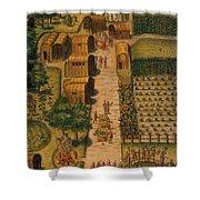 Algonquian Village 1585 Shower Curtain