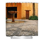 Alhambra Courtyard And Fountain In Spain Shower Curtain