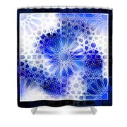 Alhambra Pattern Blue Shower Curtain