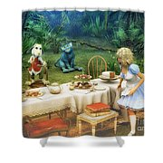 Alice In Wonderland Shower Curtain by Jutta Maria Pusl