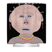 Alien  Lifeform From  Stucco  World  -  One Shower Curtain