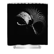 Alien Mask Shower Curtain