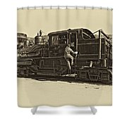All Aboard Antique Shower Curtain