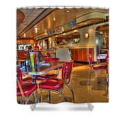 All American Diner 5 Shower Curtain by Bob Christopher