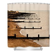 All Hallows Beach Shower Curtain