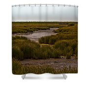 All Hallows Marshes Shower Curtain