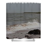 All Hallows Wave Shower Curtain