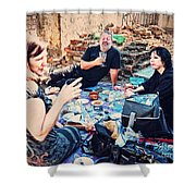 All Saints Day Cemetery Picnic New Orleans Shower Curtain