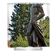 All Sparty Shower Curtain