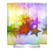 All The Stars Of The Rainbow Shower Curtain