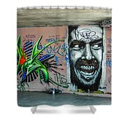 All Work And No Play Shower Curtain
