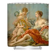 Allegory Of Music Shower Curtain