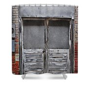 Alley Doors Shower Curtain