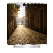 Alley In Backlight  Shower Curtain