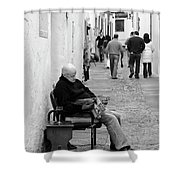 Alley Stop Shower Curtain