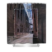 Alley With Fire Escape Layered Shower Curtain
