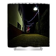 Alley With Lights Shower Curtain