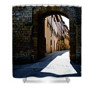 Alley With Sunlight Shower Curtain