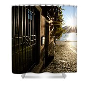 Alley With Sunshine Shower Curtain
