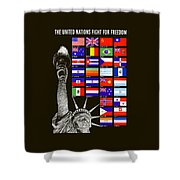Allied Nations Fight For Freedom Shower Curtain by War Is Hell Store