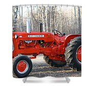 Allis Chalmers Angled Shower Curtain
