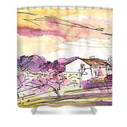 Almond Trees In Spain 02 Shower Curtain