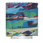 Almost Abstract Painting Shower Curtain