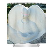 Alms For Angels Shower Curtain