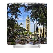 Aloha Tower II Shower Curtain