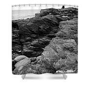 Alone Time Bw Shower Curtain