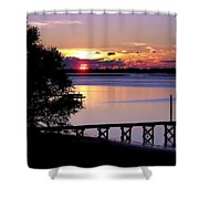 Alone With God Shower Curtain by Karen Wiles