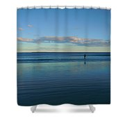 Alone With The Sea Shower Curtain