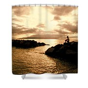 Alone With Your Thoughts Shower Curtain