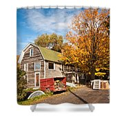 Along Route 20  Shower Curtain