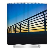 Along The Bridge Shower Curtain